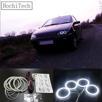 HochiTech Ultra bright SMD white LED angel eyes 2500LM 12V halo ring kit daytime running light DRL for Fiat PUNTO mk2 1999 2010