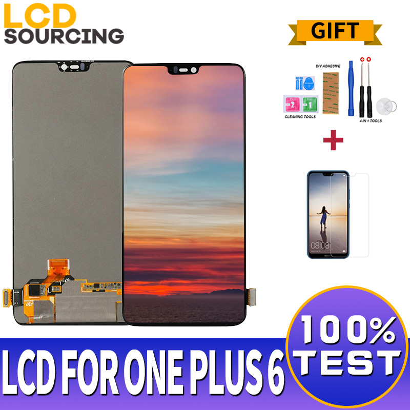6.28 inch LCD Display For <font><b>Oneplus</b></font> 6 <font><b>A6000</b></font> LCD AMOLED Touch <font><b>Screen</b></font> Digitizer Assembly For ONE PLUS 6 Display Replac 2280*1080 image