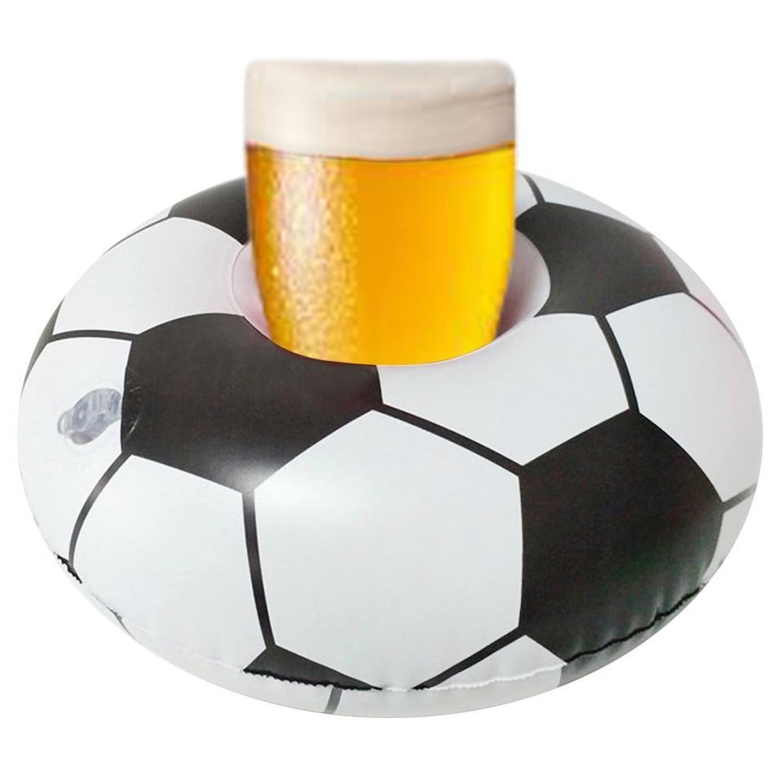 Opblaasbare zwembad Voetbal drink beker bier houder speelgoed cup stand Water Mat Drijvende bekerhouder zwembad Party accessoires