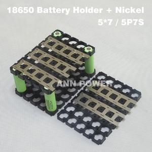 Image 4 - 18650 배터리 5P7S (5*7) 홀더 및 순수 니켈 스트립, 7S 24V 10Ah/15Ah 리튬 이온 배터리 팩, 5*7 홀더 + 순수 니켈 벨트
