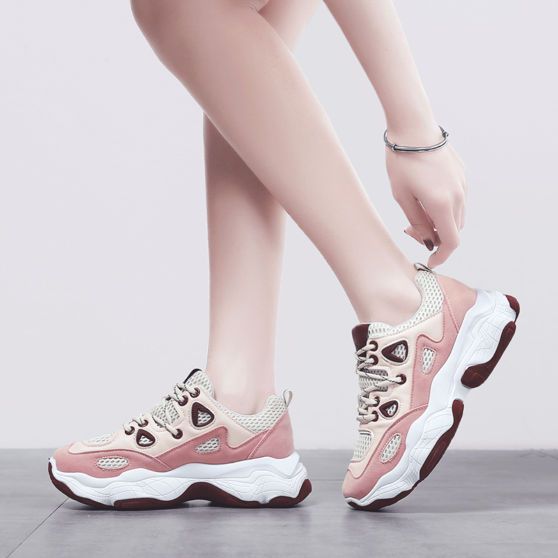 Women Chunky Sneakers Big Size 42 Mesh Breathable Platform Casual Shoes Ladies Thick Sole Shoes White Pink Sneakers Female 001wWomen Chunky Sneakers Big Size 42 Mesh Breathable Platform Casual Shoes Ladies Thick Sole Shoes White Pink Sneakers Female 001w