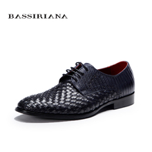 BASSIRIANA – New 2016 Fashion Genuine Leather Men Shoes lace up 39-45SIZE Top Sale High quality Shoes for Men Free shipping