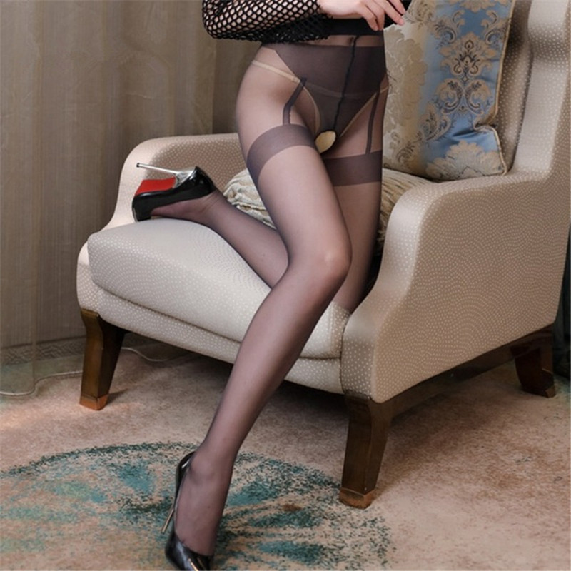 Hot 10D <font><b>Sexy</b></font> Tights <font><b>For</b></font> <font><b>Women</b></font> <font><b>Open</b></font> <font><b>Crotch</b></font> <font><b>Sexy</b></font> Pantyhose <font><b>Sexy</b></font> <font><b>Lingerie</b></font> Transparent Collant Femme Nylon Stockings Smoothly Medias image