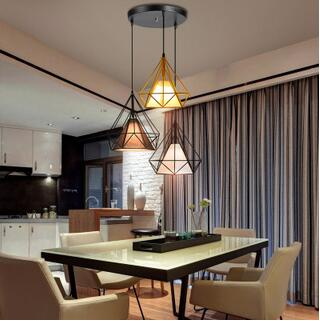 Simple modern creative diamond pendant light Nordic personality living room dining room bedroom lamp TA10121 nordic creative personality dining room pendant light rectangular post modern studio light office light solid wood led lamp