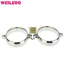 Металлические наручники наручники секс-игрушки bdsm связывание набор bdsm секс игрушки для пар взрослые игры эротические фетиш раб игрушки