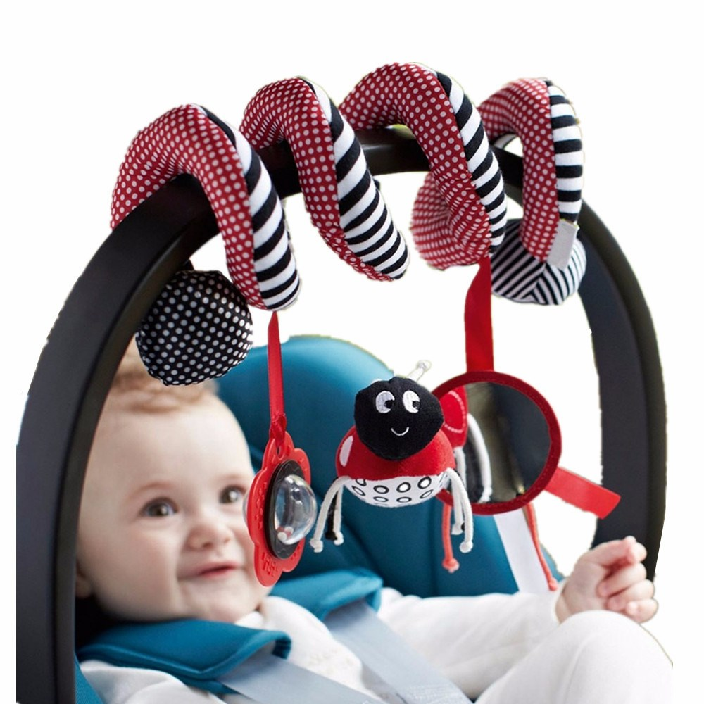 Ladybug Cute Infant Babyplay Baby Toys Activity Spiral Bed & Stroller Toy Set Hanging Bell Crib Rattle Brain Game Toys For Baby