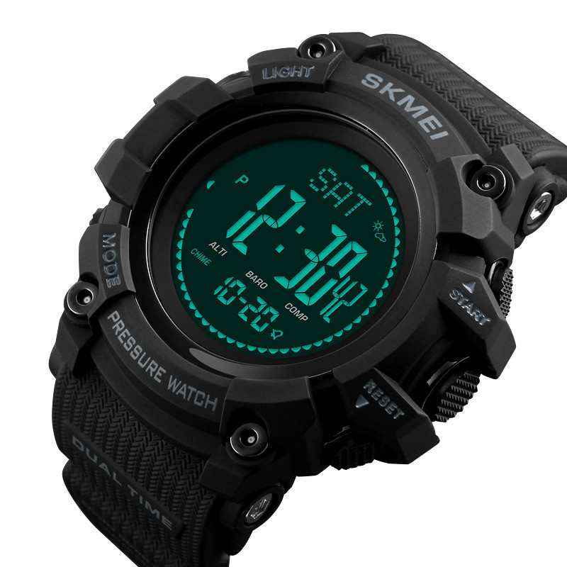 Outdoor Sports Watches Mens Pedometer Calories Digital Watch Altimeter Weather Barometer Compass Thermometer WristWatch sports watches men pedometer calories digital watch women altimeter barometer compass thermometer weather reloj hombre skmei