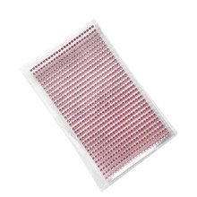 Retail 3mm Diy Decal pink Crystal Diamond Rhinestone Self Adhesive Picture frames Stickers tattoos Sticker Children Toys