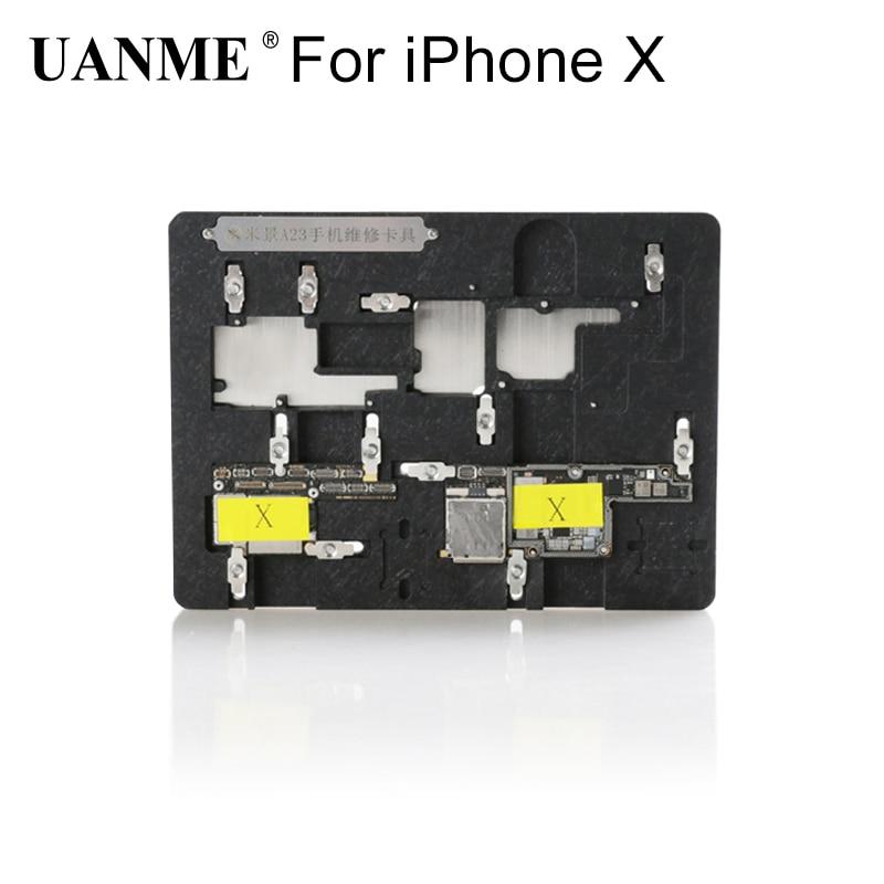 цены на UANME Multi Mobile Phone Repair Board PCB Holder For iPhone X Logic Board Chip Fixture в интернет-магазинах