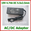 50pcs AC/DC Adapter 19V 4.74A 90W 5.5x2.5mm Power Supply for Lenovo Asus Toshiba N102 Laptop Replacement Charger with AC Cable