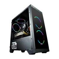 GETWORTH S1 офис настольных ПК компьютерных игр двойное ядро Intel Pentium G4560 1 ТБ HDD 4 ГБ Оперативная память B250 для LOL DIY рабочего Бесплатная вентилятор