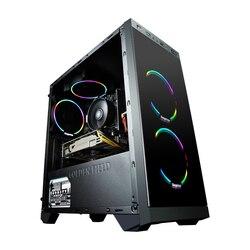 Kotin S1 офисный ПК настольный компьютер игровой Intel i3 8100 четырехъядерный 1 ТБ HDD 16 Гб RAM для LOL DIY рабочего стола бесплатно 4 красочный веер