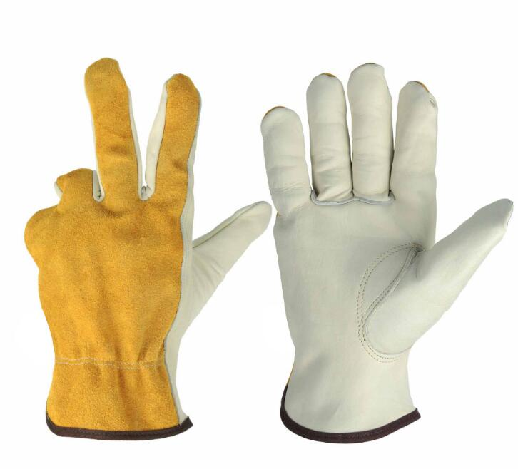 1 pair Work Gloves Cowhide Leather Working Welding Gloves Safety Protective Garden Sports MOTO Wear-resisting Gloves Art No:1008 50pcs disposable safety protective latex for home cleaning industria rubber long female kitchen wash dishes garden work gloves a
