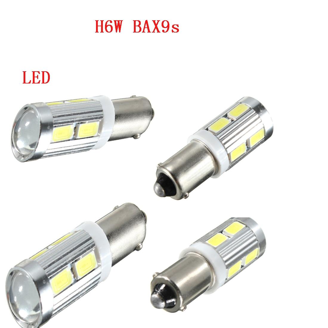 Dongzhen H6W BAX9S 433C 5630 LED SMD Super Power Fog lamp Automobiles Backup Reversing Brake Lights Parking Bulb White 2pcs