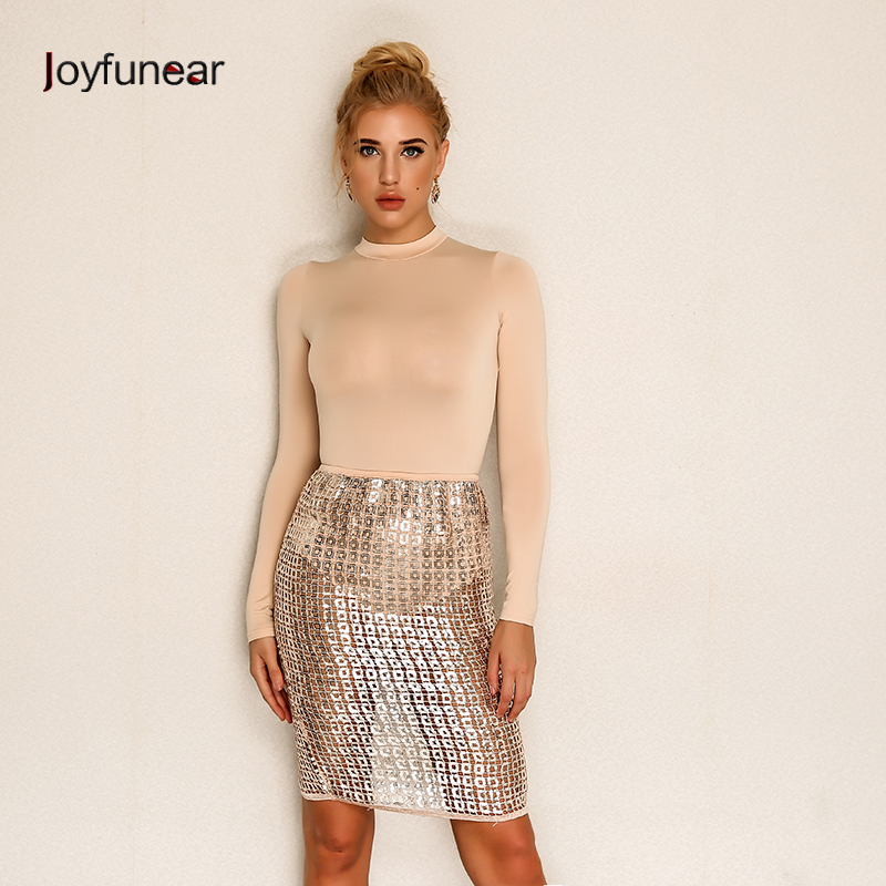 Joyfunear Sexy Sequined Two Piece Suit 4DTP712