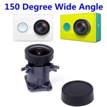 Kit de reemplazo de la lente de la cámara para xiaomi yi accesorios xiaoyi selfi 150 grados lente ultra gran angular para xiaomi yi acción cámara