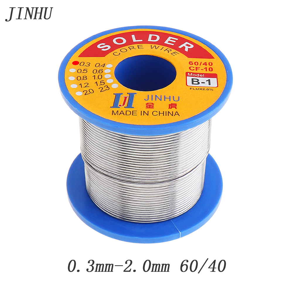 0.3/0.4/0.5/0.6/0.8/1.0/1.2/1.5/2.0mm 250g 60/40 FLUX 2.0% Tin Lead Tin Wire Melt Rosin Core Solder Soldering Wire Roll цена