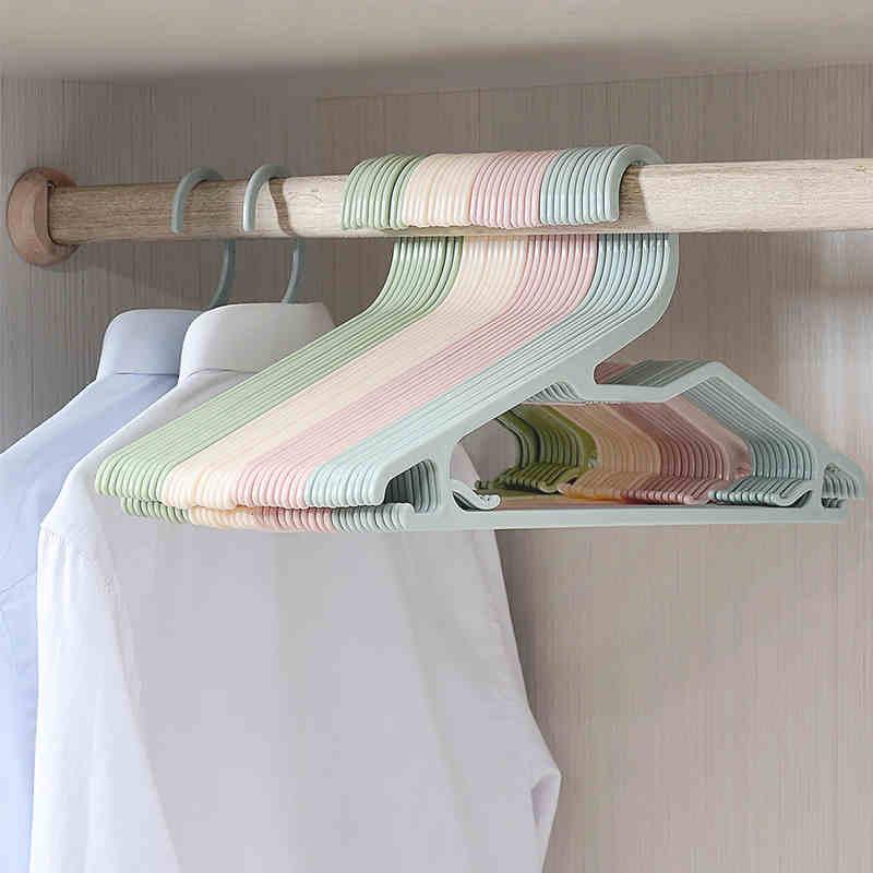 20ks / šarže 40cm plastové plastové věšáky na oblečení multifunkční věšák na šaty