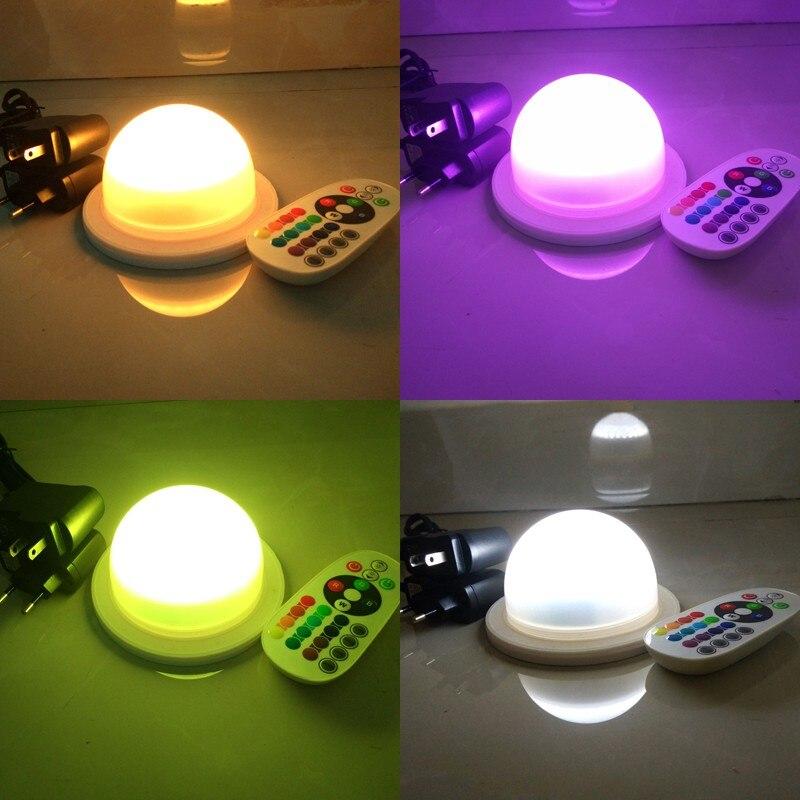 DHL Dia 120mm Rechargeable RGBW LED ampoule Bulblite ampoule étanche Lite sphère LED sous la lampe de table pour les mariages