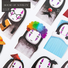 30 pcs/pack Creative Comic No Face Men Greeting Card Postcard Birthday Gift Card Set Message Card Letter Envelope Gift Card