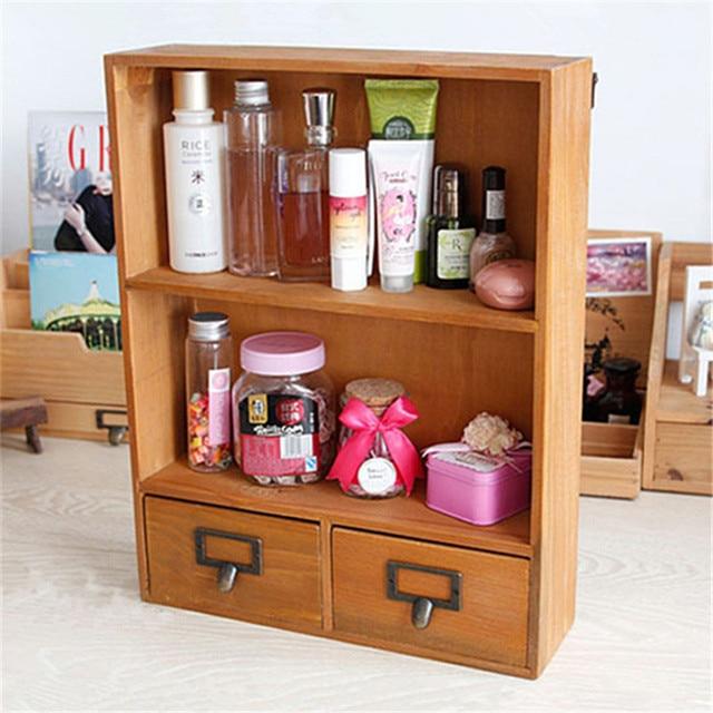 Large Wall Cabinet Box Hanging Storage Holder Rack Decorative Wooden Bathroom Shelf Craft