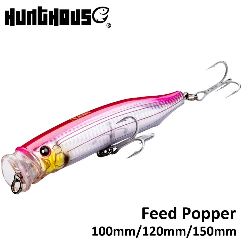 Noeby feed popper angeln locken ABS kunststoff 100mm 19,5g 120mm 29g 150mm 54,5g top wasser für meer bass 11 farben erhältlich