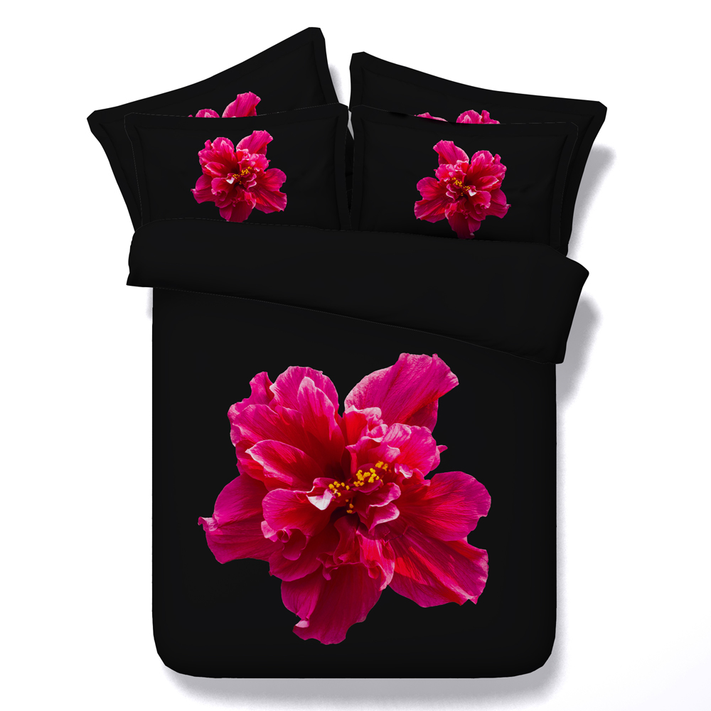 Jf 048 twin to super king size available luxury black and red flower jf 048 twin to super king size available luxury black and red flower bedding sets queen peony bed sheets in bedding sets from home garden on izmirmasajfo Images