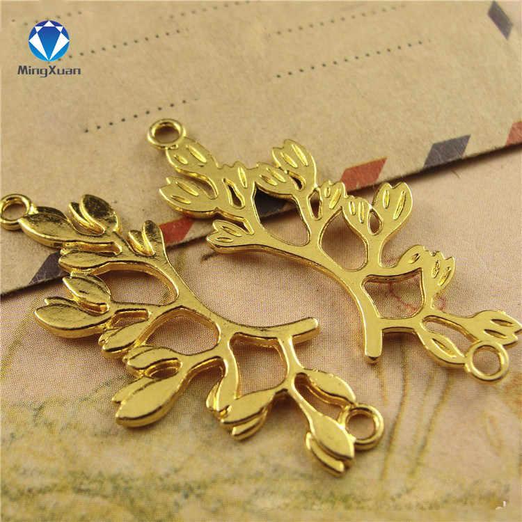 20pcs 38x16 มม.สาขาตัวเชื่อมต่อโลหะดอกไม้ charms สำหรับเครื่องประดับทำสร้อยข้อมือสร้อยข้อมือ Diy Charms เครื่องประดับผลการค้นหา