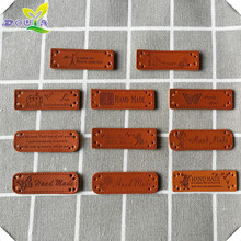 100pcs/lot DIY handmade PU leather labels for clothing hand made tags for clothes custom logo leather labels for gift sewing tag win win logo hand made leather labels for gift sewing win logo hand made tags for clothes gift handmade leather sewing label