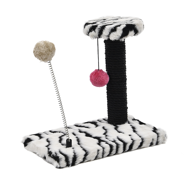 Free Shipping Pet Climbing Tree Dog Cat Scratching Post Available in Six Colors Soft and Comfortable Short Fluff Stable Basement
