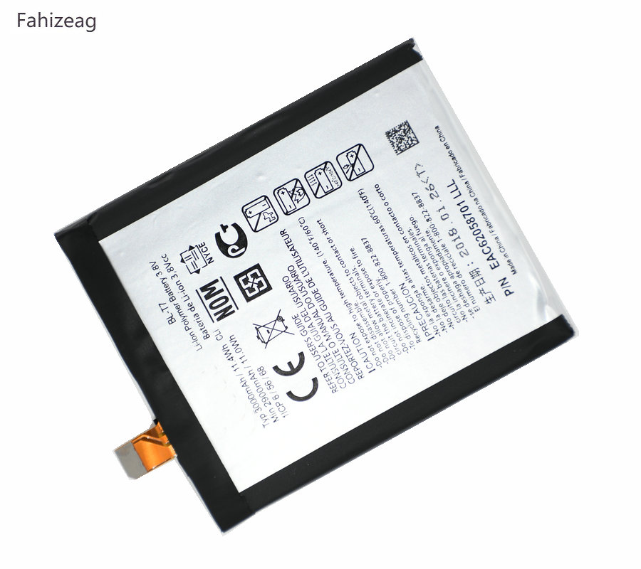 Fahizeag 10pcs 3000mAh Replacement battery For <font><b>LG</b></font> D802 D800 D803 Optimus G2 P693 <font><b>T7</b></font> VS9801 <font><b>BL</b></font>-<font><b>T7</b></font> Battery genuine batterie image