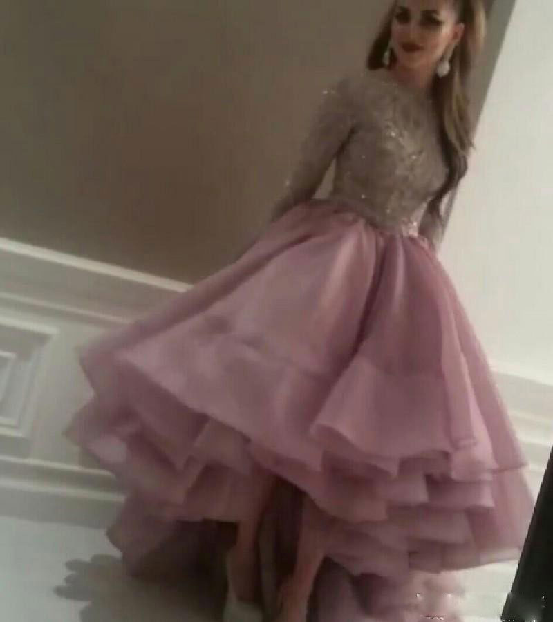 Long Sleeves Evening Dresses Myriam Fares Jewel Ball Gown with ...