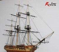 RealTS классический деревянный парусник Собранный набор 1/75 HMS сюрприз парус лодка модель 1 шт.