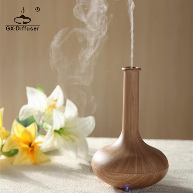 GX. Diffusor Licht Holz 160ml Ultraschall Nebel Maker Luftbefeuchter Ätherisches Öl Diffusor Aroma Diffusor Aromatherapie Haushalt