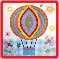 Своими руками Рисование Игрушка мультфильм животных печати Бумага детский сад картины из ниток игрушка самодельные поделки ручной работы
