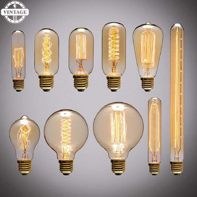 Retro lamp vintage edison bulb Lamp E27 incandescent glass bulb 220v 40w filament lamp for Home Decoration Outdoor Lighting ST64