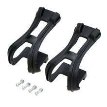 Wanyifa 1Pair Bicycle Straples Toe Pedal Clip Black Ultra-light with Bolt Accessories