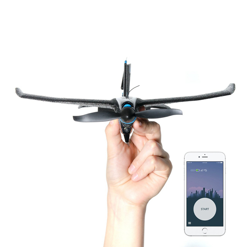 TOBYRICH SmartPlane Pro FPV 5.8G 40CH FPV Camera Blue&tooth <font><b>Plane</b></font> Support iOS & Android Smartphone Controlled Mini RC Aircraft image