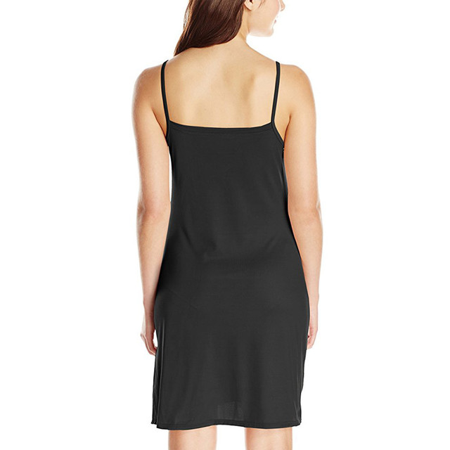 Casual Solid Spaghetti Short Dress 3