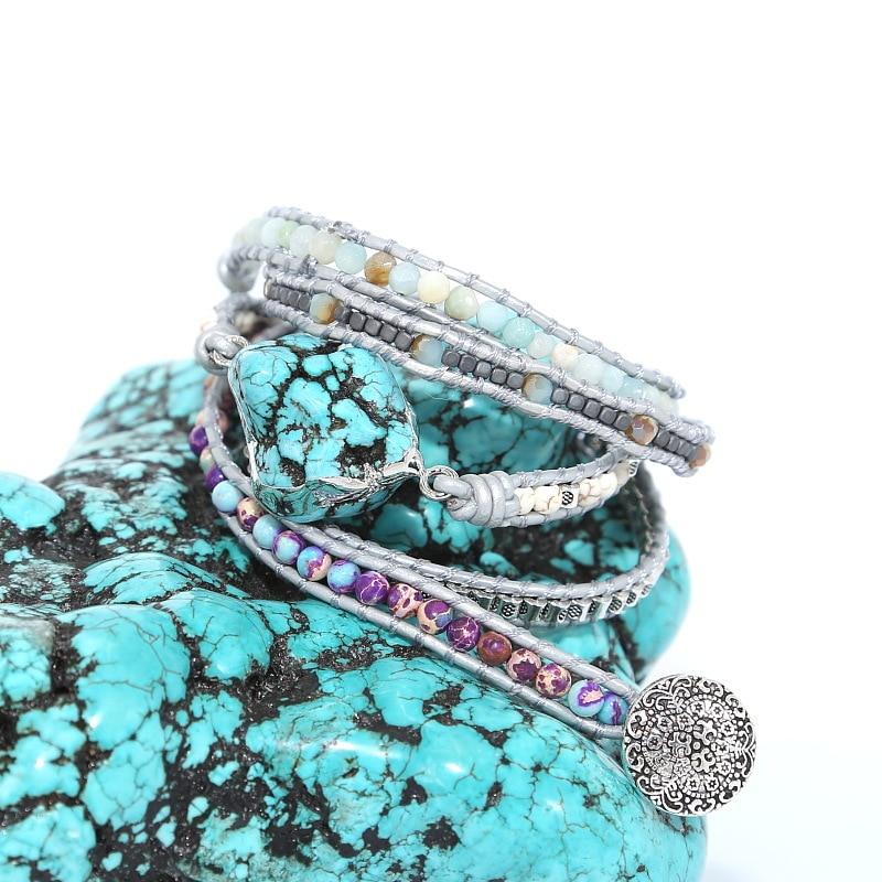 2019 модные богемные многослойный кожаные браслеты для женщин Жемчуг пресной воды подвески змейки женские браслеты JewelryLL @ 17