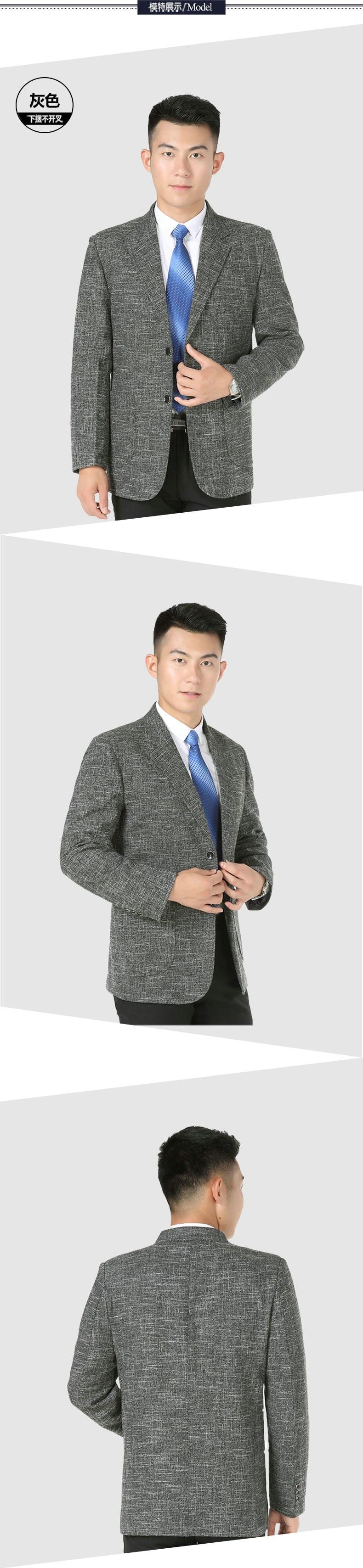 WAEOLSA Men Elegance Blazers Gray Red Khaki Suit Jackets Man Notched Collar Outfits Business Casual Blazer Male Office Suit Jacket Plus Size Wear (4)