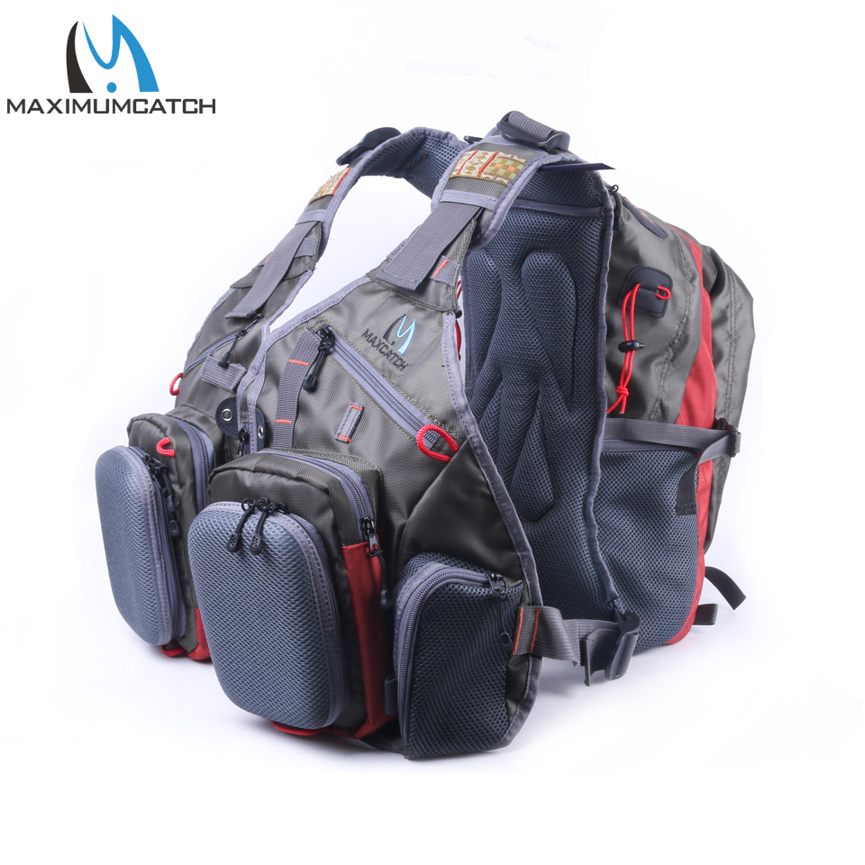 Maximumcatch Fly Fishing Vest Fishing Bag With Multifunction Pockets Adjustable Size Fishing Backpack army green adjustable outdoor sport bag multifunction pockets hunting fishing vest tactical backpack fish accessory