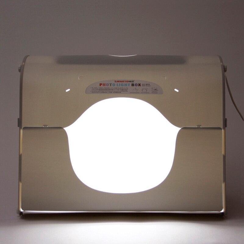 Dhl expédition SANOTO softbox photo boîte à lumière studio de photographie portable mini boîte photo mk60 - led pour 220 / 110 V ue US UK ua