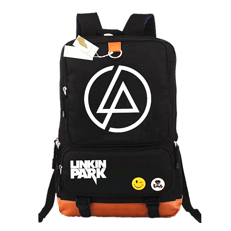 New 2018 Rock Band Lincoln Park Backpack Laptop Bags For Boys Girls Casual School Backpacks Kids Best Gift School Bag Mochilas
