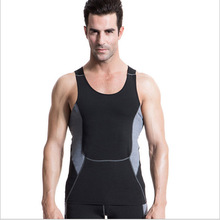 Hot Men Fitness Shirt Vest Body Building Yoga Sports Breathable Quick Dry Flexible Running Sports Gym Sleeveless T-shirt Vests
