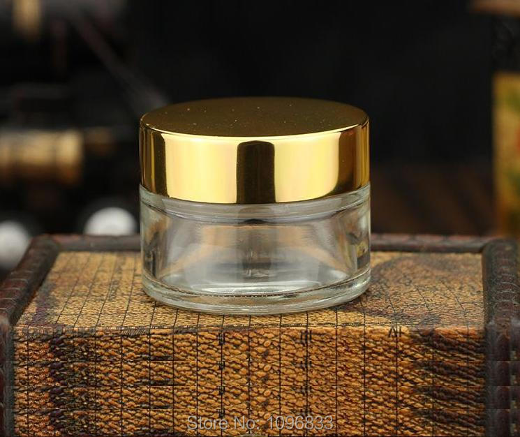 30g Clear Glass Bottle 30G Gold Cap Glass Jar Glass Packing Jars Cosmetic Glass Jar Cosmetic