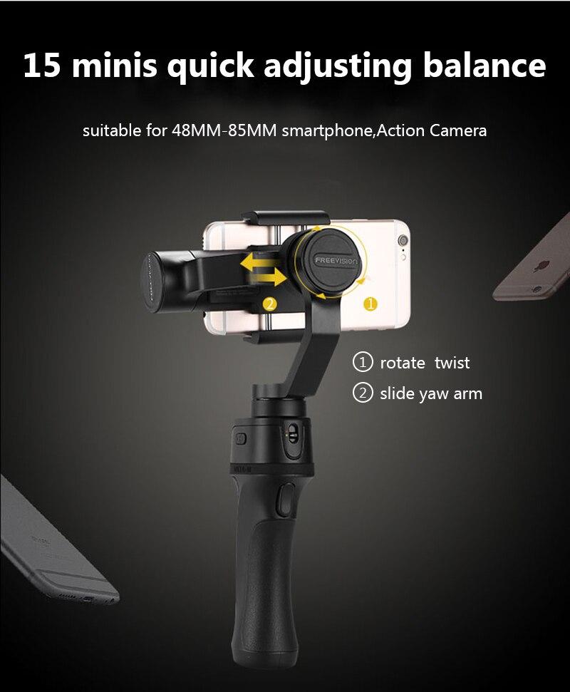 Freevision Vilta-M 3-axis Handheld Gimbal Smartphone Stabilizer for iPhone X 5 6s 8 Samsung GoPro HERO5 4 3 Yi 4K pk osmo 2 dji 10