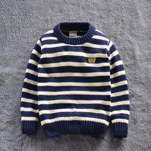 Outono e inverno crianças camisola marca babi menino sweatershirt Londres projeto crianças de alta qualidade meninas listrado pullovers 2-7 T