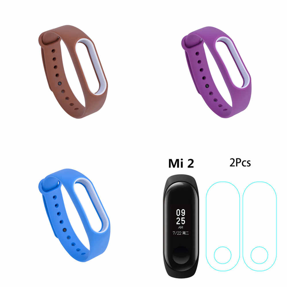 21 Colors Fashion Bracelets for Xiaomi Mi Band 2 Sport Watch Strap Silicone Wrist Strap for Xiaomi MiBand2 Bracelet Wriststrap