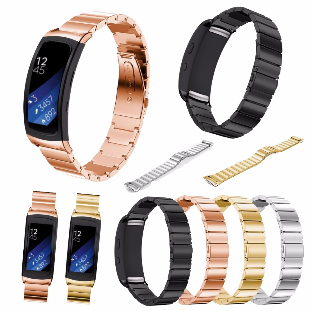 все цены на Gear Fit2 Watch Band  Gear Fit2 Stainless Steel Bracelet Strap Replacement Band Wristband For Samsung Gear Fit 2 SM-R360 онлайн